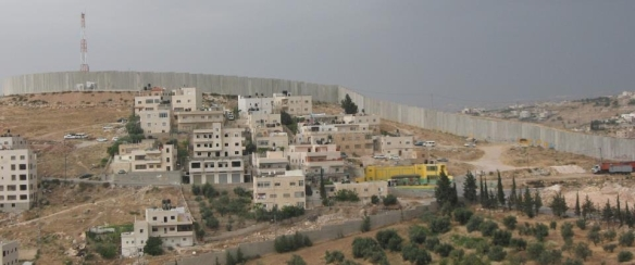 Taken on an overcast day from the window of my classroom in the Sciences Building at Al Quds University, 2011
