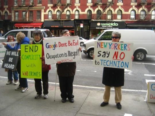 3-26-13 Google protest photo WBAI