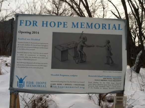 Roosevelt Island FDR Hope Memorial photo